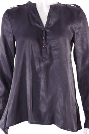 H&M Langarmbluse schwarz-glänzend