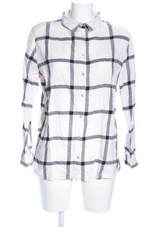 H&M Camicia a maniche lunghe bianco-grigio chiaro motivo a quadri