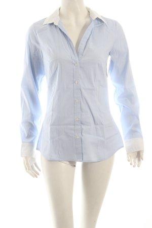 H&M Langarmhemd hellblau-weiß Nadelstreifen klassischer Stil