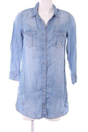 H&M Langarmhemd himmelblau sportlicher Stil