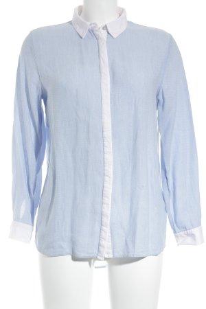 H&M Langarmhemd himmelblau-weiß Business-Look