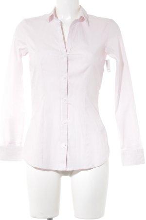 H&M Camisa de manga larga rosa-blanco estampado a rayas estilo «business»