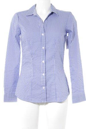H&M Camisa de manga larga blanco-azul acero estampado a rayas