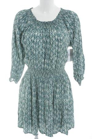 H&M Langarmkleid abstraktes Muster Retro-Look