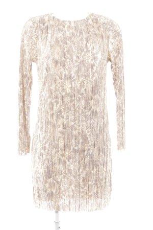 H&M Langarmkleid beige Blumenmuster Elegant