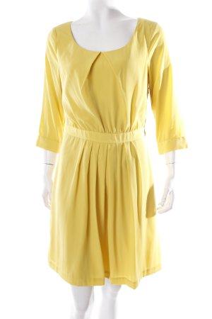 H&M Langarmkleid gelb schlichter Stil
