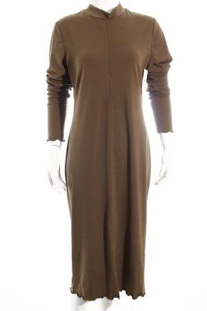 H&M Langarmkleid khaki schlichter Stil