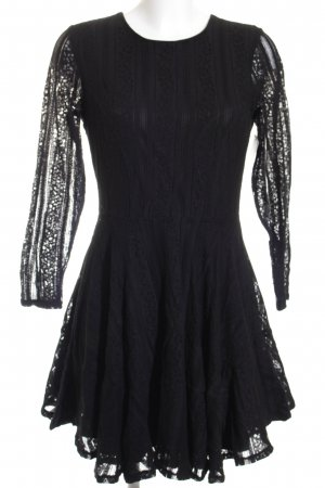 H&M Langarmkleid schwarz Beach-Look