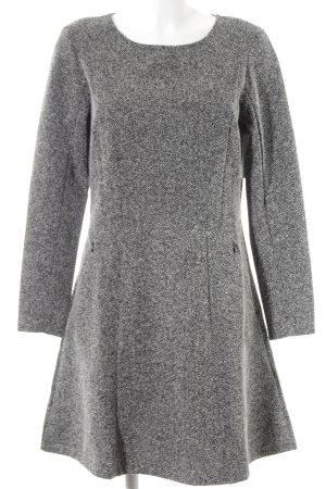 H&M Langarmkleid schwarz-grau meliert Casual-Look