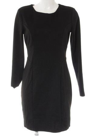 H&M Langarmkleid schwarz klassischer Stil