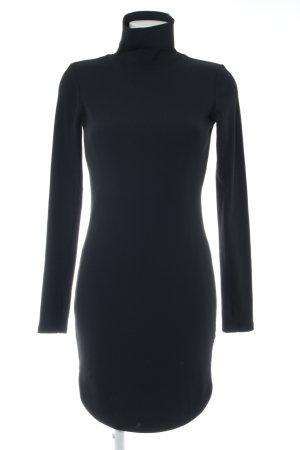 H&M Langarmkleid schwarz Streifenmuster Business-Look