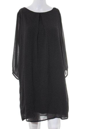 H&M Langarmkleid schwarz-weiß Punktemuster Casual-Look