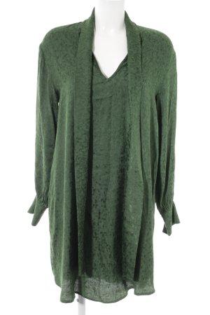 H&M Langarmkleid waldgrün Farbtupfermuster Casual-Look
