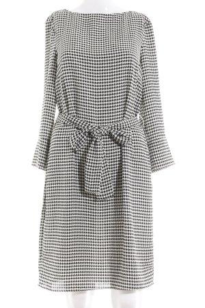 H&M Abito a maniche lunghe bianco-nero Stampa suggestiva stile professionale