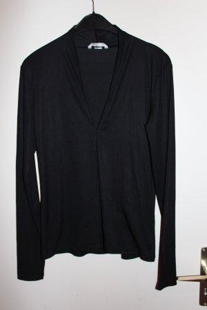 H&M Langarmshirt V-Auschnitt Gr. S schwarz Damen