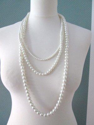 H&M lange 3-reihige Perlenkette