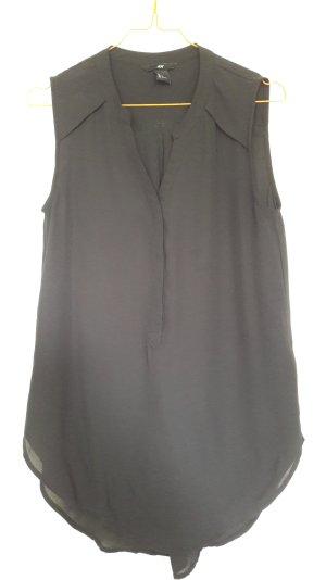 H&M lange ärmellose Bluse schwarz Gr. 34