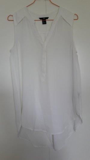 H&M lange ärmellose Bluse weiß Gr. 34