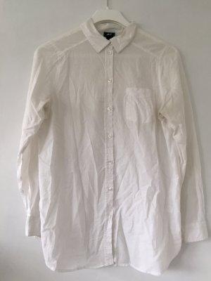 H&M lange Bluse Weiß Gr 36