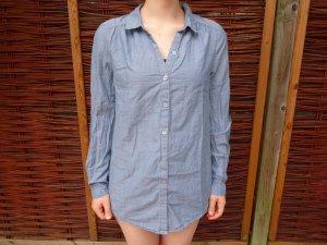 H&M - Lange Hemd-Bluse in blau