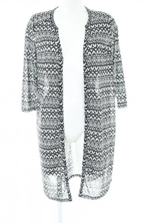 H&M Long Jacket black-white allover print casual look