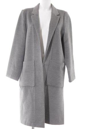 H&M Veste longue gris moucheté style d'affaires