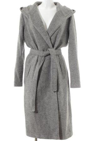 H&M Lange Jacke grau meliert Street-Fashion-Look