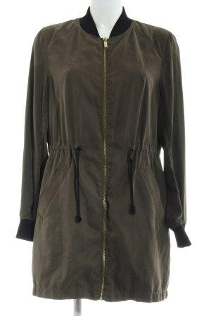 H&M Lange Jacke olivgrün-schwarz Military-Look