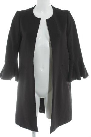 H&M Lange Jacke schwarz Elegant