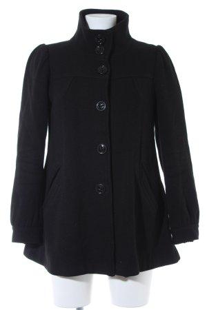 H&M Lange Jacke schwarz schlichter Stil