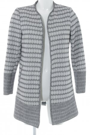 H&M Lange Jacke weiß-schwarz abstraktes Muster Business-Look