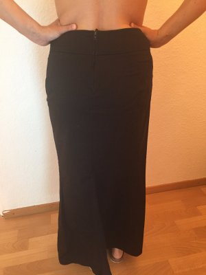 H&M Falda larga negro Algodón