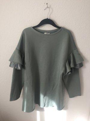 H&M langes Sweatshirt mit Volants