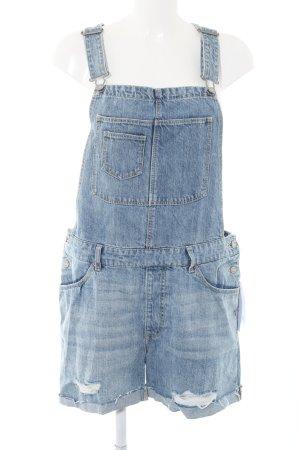 H&M Latzhose blau Casual-Look