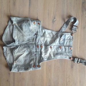 H&M Latzhose Jeans Denim Shorts Latzshorts Kula kurze Hose Latz Culottes
