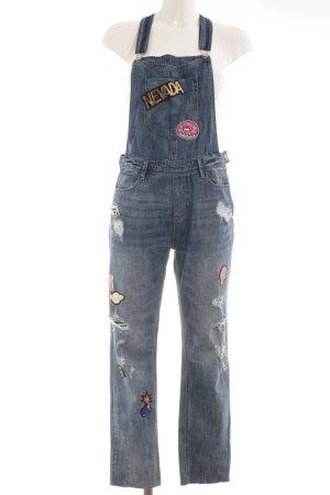 H&M Jeans met bovenstuk staalblauw ontspannen stijl