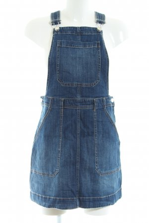 H&M Pinafore Overall Skirt blue casual look