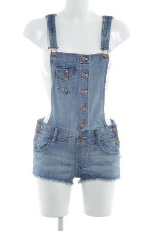 H&M Pantalón corto tipo peto azul pálido look casual