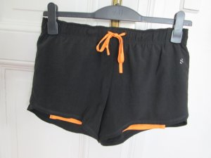 H&M Pantalone da ginnastica nero-arancione