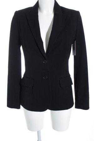 H&M Leder-Blazer schwarz Casual-Look