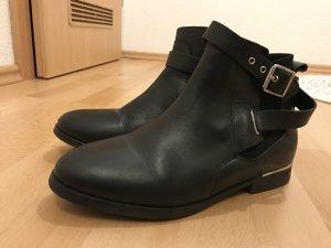 H&M Leder Boots Stiefeletten 36 schwarz