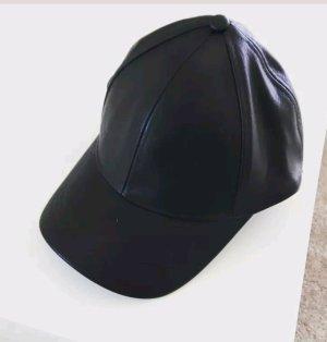 h&m leder cap schwarz one size basecap kardashian style