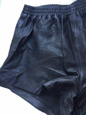 H&M Leder Hose Hot Pants