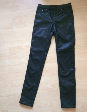 H&M Leder Jeggings Treggings Gr 34 Xs