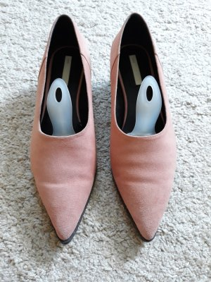 H&M High-Front Pumps dusky pink leather