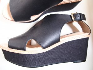 H&M High-Heeled Sandals black leather
