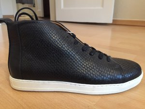 H&M Leder Sneaker - Special GOLD Edition - Größe 39 - Schwarz - NEU