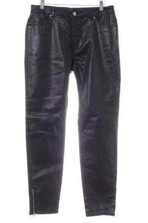 H&M Pantalone in pelle nero stile stravagante