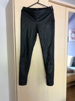 H&M Leren broek zwart