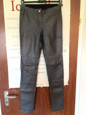 H&M Leather Trousers anthracite